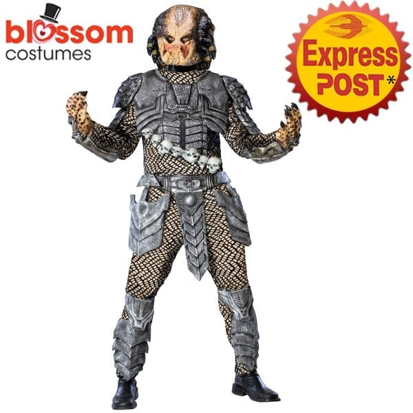 Ca652 Deluxe Alien Vs Predator Movie Costume Halloween Space