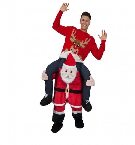 Adult Funny Novelty Carry Me Piggy Back Christmas Xmas Mascot
