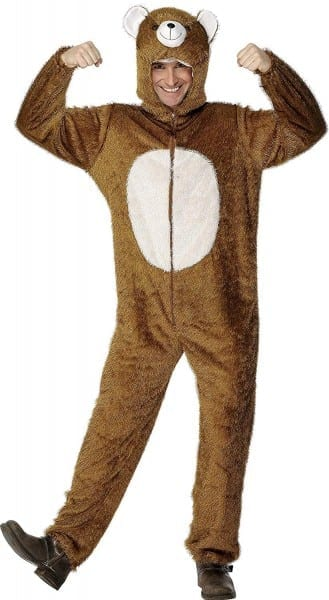 Amazon Com  Smiffy's Men's Bear Costume Includes Jumpsuit With