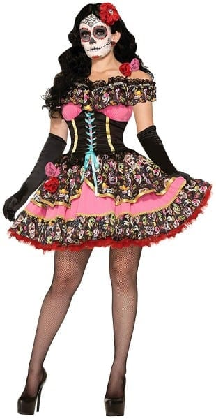 Amazon Com  Forum Novelties Women's Day Of Dead Senorita Costume