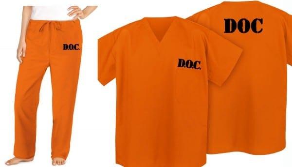 Prisoner Costume Orange Convict Suit Jail Uniform Halloween