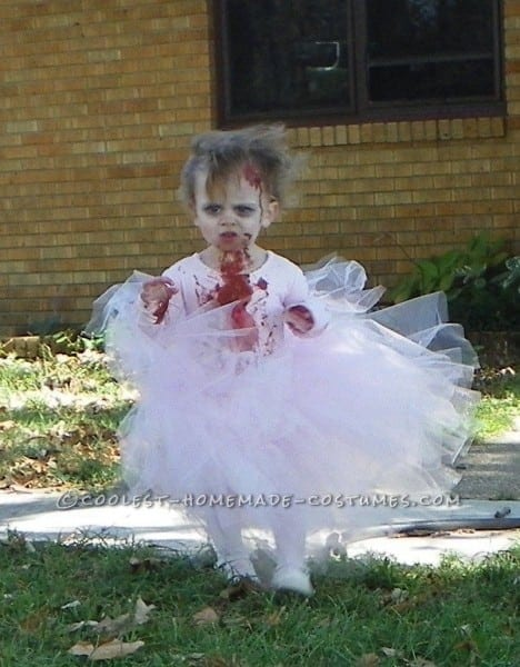 Sweet Little Bloody Zombie Ballerina Toddler Costume