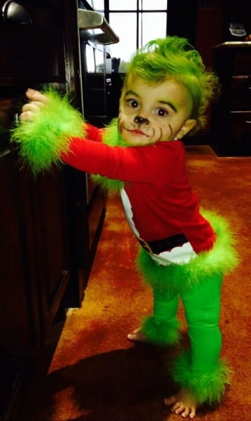 My Sweet Baby Grinch Costume For My Little Girl Minus The Bad Face