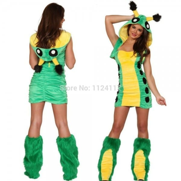 Adult Cute Caterpillar Christmas Costume Cosplay Sexy Halloween