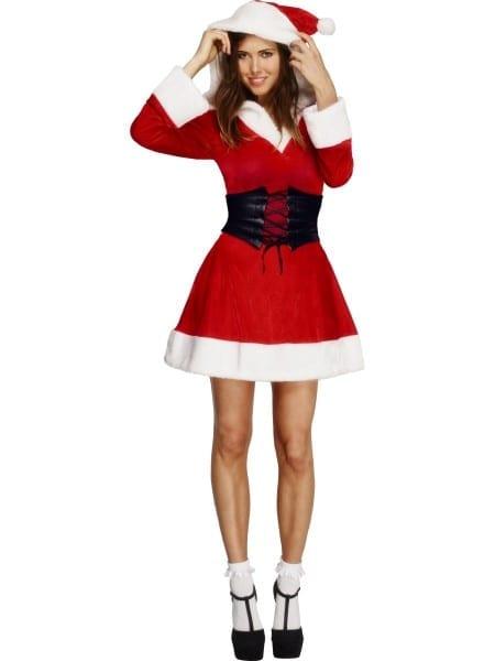 Adult Fever Hooded Santa Costume