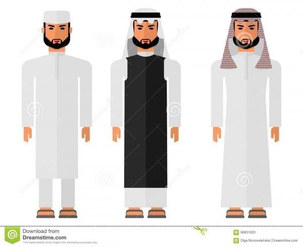 Arab Men In A National Dress Stock Vector