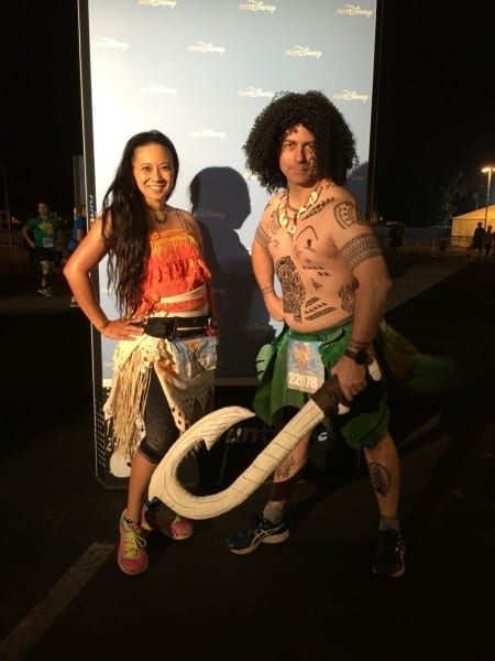 Moana And Maui Running Costumes