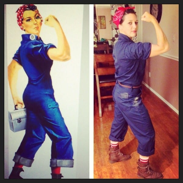Homemade Rosie The Riveter Halloween Costume