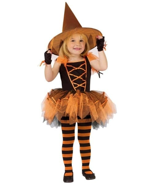 Witch Ballerina Halloween Toddler Costume