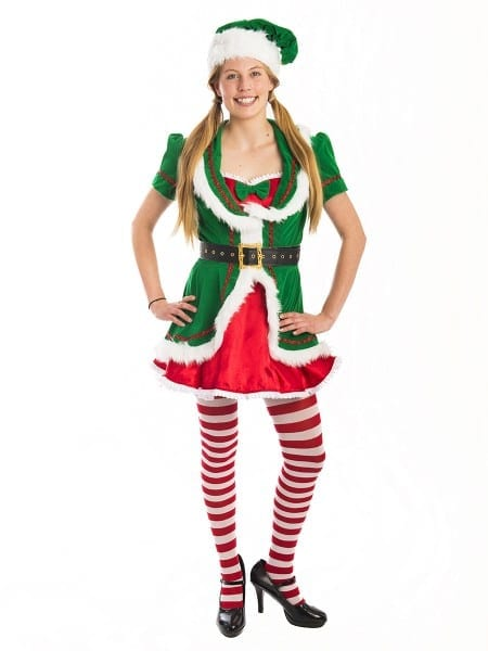 Female Christmas Elf Costume Santas Helpercreative Costumes