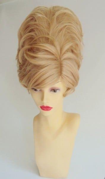 Blonde Beehive Costume Wig