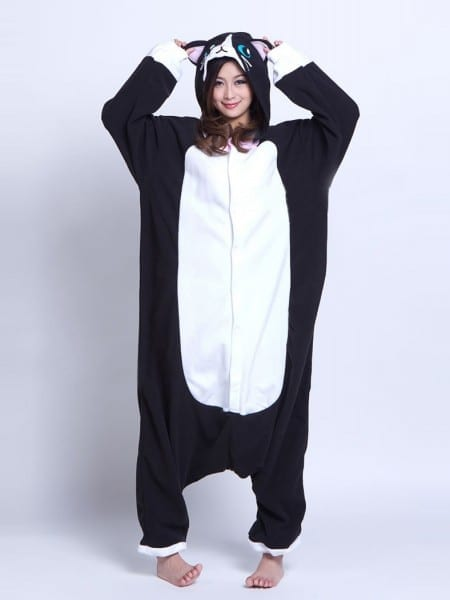 Black Cat Onesie Animal Costumes Kigurumi Pajamas