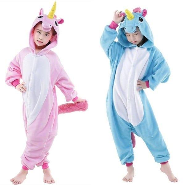 Blue And Pink Unicorn Cosplay Kigurumis Children Halloween