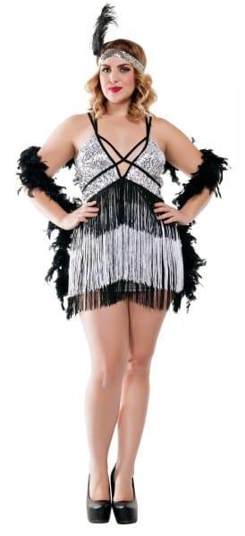Starline Women's Plus Size Boardwalk Flapper Roaring 20s Costume
