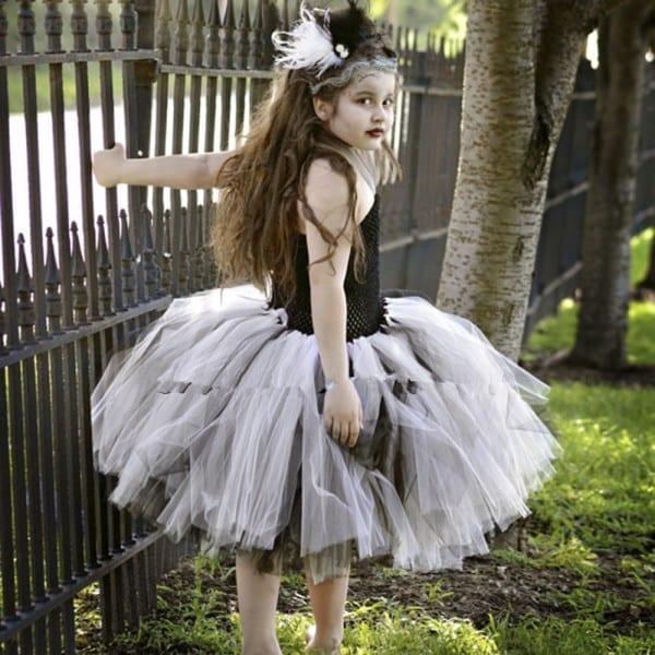 Bride Of Frankenstein Tutu Dress Halloween Costume Little Girls
