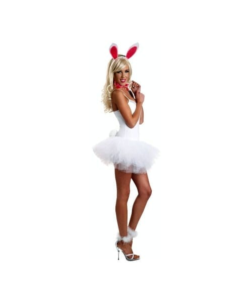 Adult Romantic Lace Bunny Rabbit Costume Kit