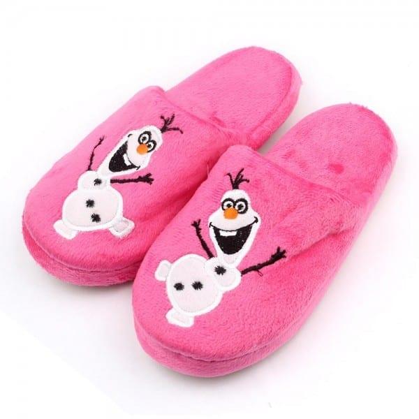 Cartoon Kids Slippers Olaf Warm Plush Stuffed Slippers House