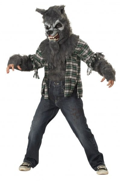 Kids Howling At The Moon Wolf Costume