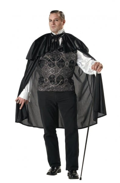 Adult Victorian Vampire Men Plus Size Costume