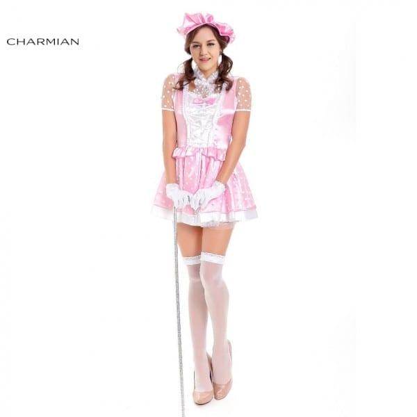 Charmian Pretty Little Bo Peep Anime Cosplay Costume For Women