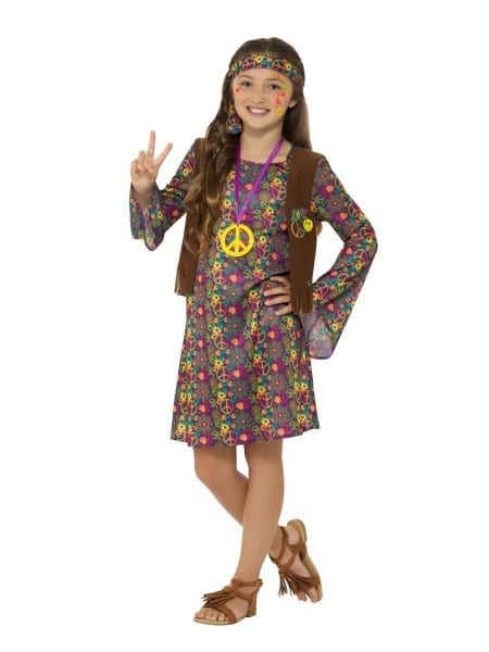 Childs 60s Hippie Girl Costume