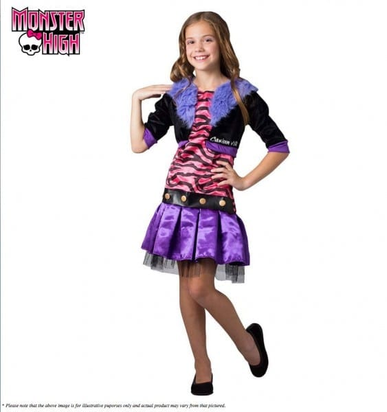 Monster High Clawdeen Wolf Costume Scarylicious Girls Halloween