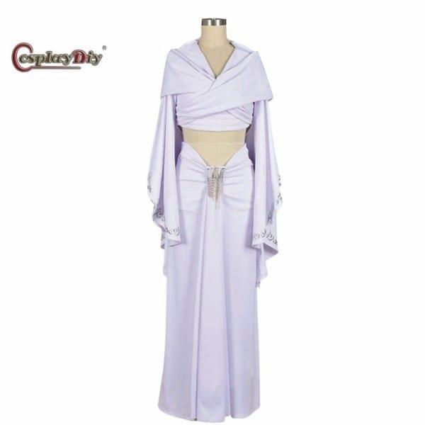 Cosplaydiy Movie Star Wars Padme Amidala White Dress Cosplay
