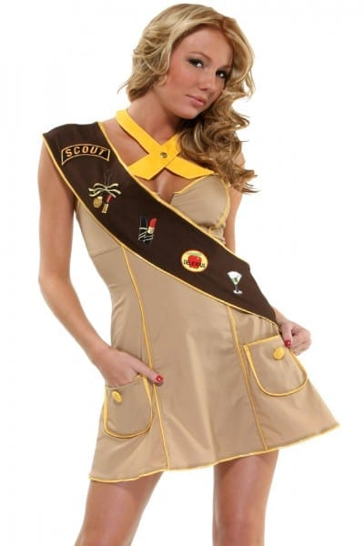 3 Pc  Troop Leader Sexy Girl Scout Costume