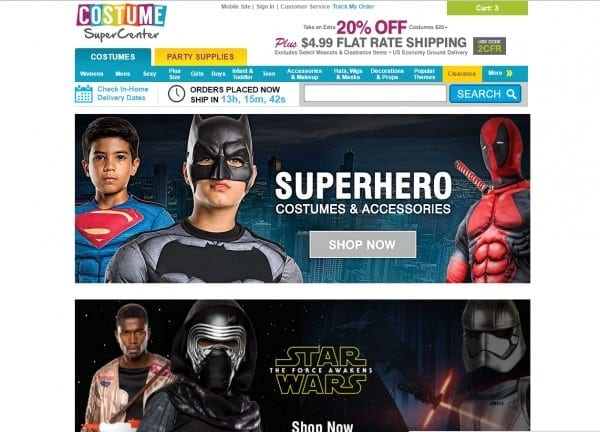 Get Costume Supercenter Store Coupons And Promo Code At