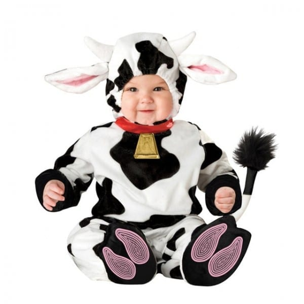 Kelly The Cow Costume  Pink Cow Girl Costume For Dogs  Child Cow