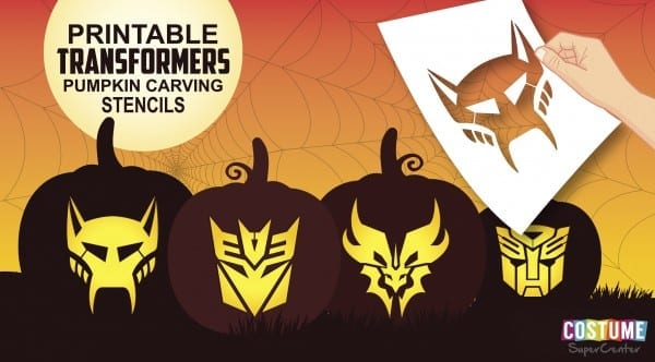 Free Transformer Pumpkin Carving Stencils