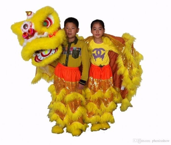 D High Quality Pur Lion Dance Costume Made Of Pure Wool Southern