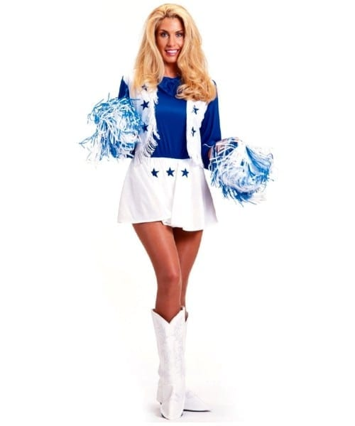 Cowboy Dallas Cheerleader Cowgirl Adult Costume