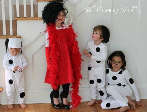 Easy Diy 101 Dalmatians Costumes For Kids & Cruella For Mom