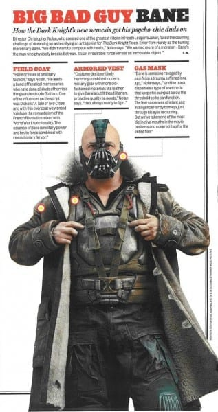 Dark Knight Rises Wanted Poster And Bane's Mask