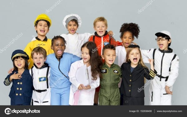 Children Wearing Dream Job Costumes — Stock Photo © Rawpixel