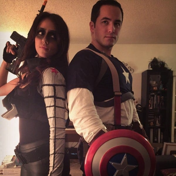 My Girlfriend And I As Captain And Winter Soldier  Homemade