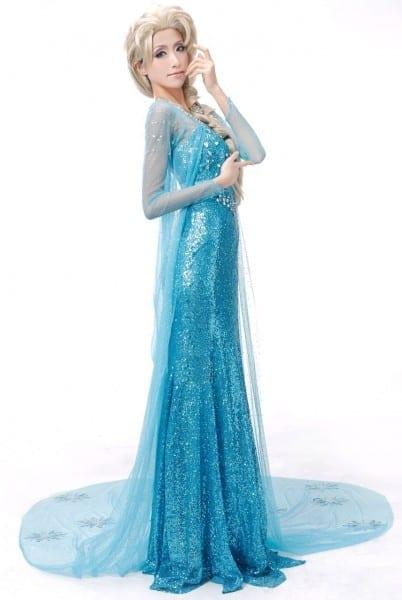 Disney Frozen Elsa Halloween Princess Costume Deluxe Dress Gown