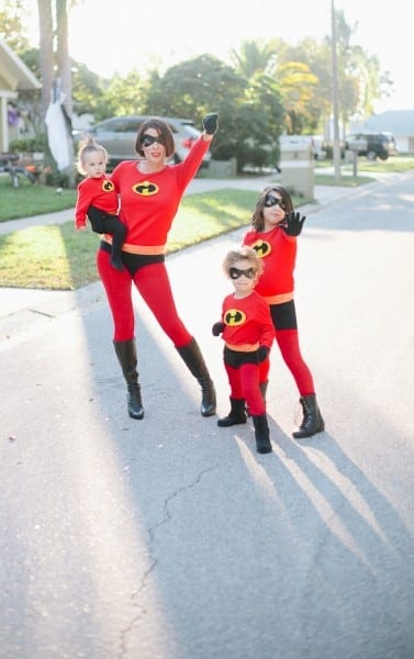 Easy Incredibles Family Costume
