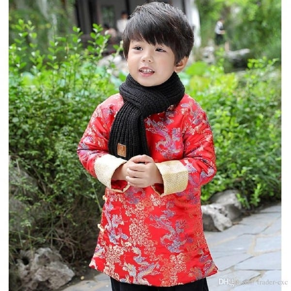 2018 Dragon Baby Boys Coat Tang Clothes Chinese Spring Festival