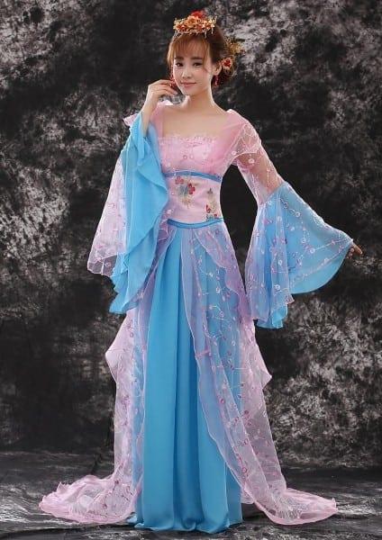 Satin Female Fairy Cosplay Costume Women Hanfu Chinese Tang