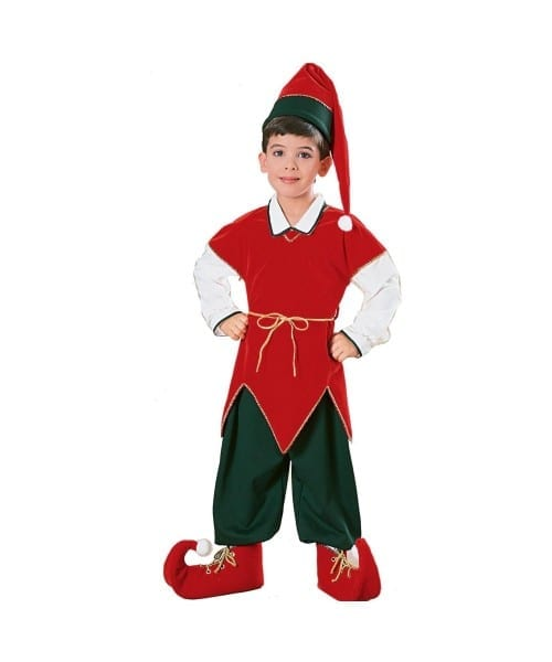 Elf Kids Santa Costume