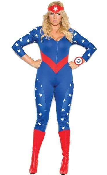 Plus Size Captain America Costume