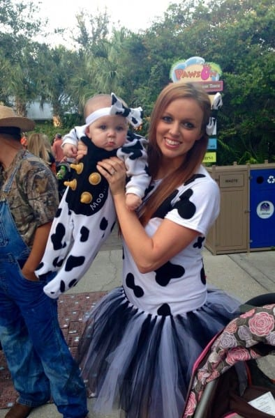 Diy Cow Costume  Baby Bottle Nipples Glued Onto Baby's Costume