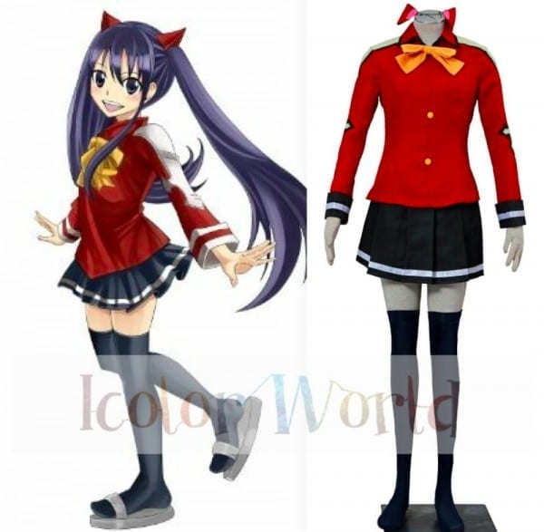 Fairy Tail Wendy Marvell Cosplay Costume Halloween Costume