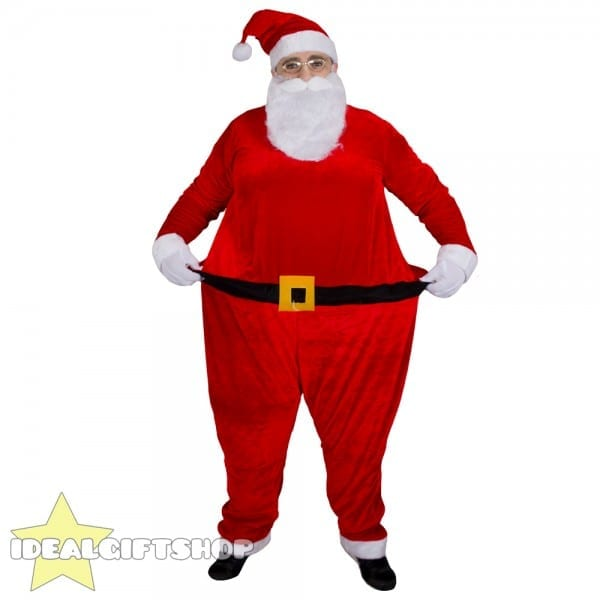 Fat Santa Suit Father Christmas Fancy Dress Xmas Claus Costume