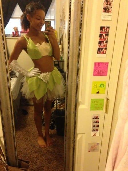 My Diy Princess Tiana Raver Costume! Still Need To Make My Tiara