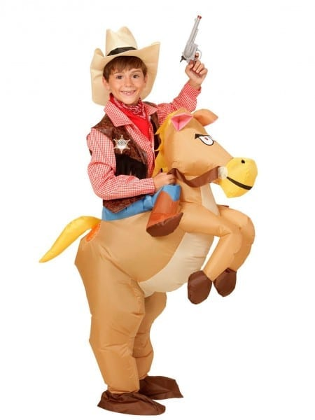 Inflatable Cowboy On Horse Costume For Kids