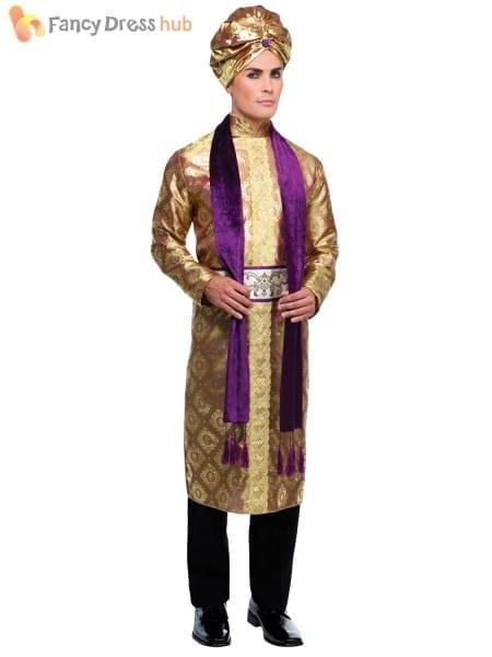 Adult Bollywood Costume Men Ladies Arabian Fancy Dress Woman Belly