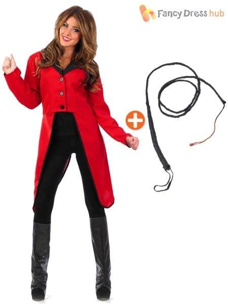 Ladies Ringmaster Fancy Dress Costume Circus Ring Master Coat Plus